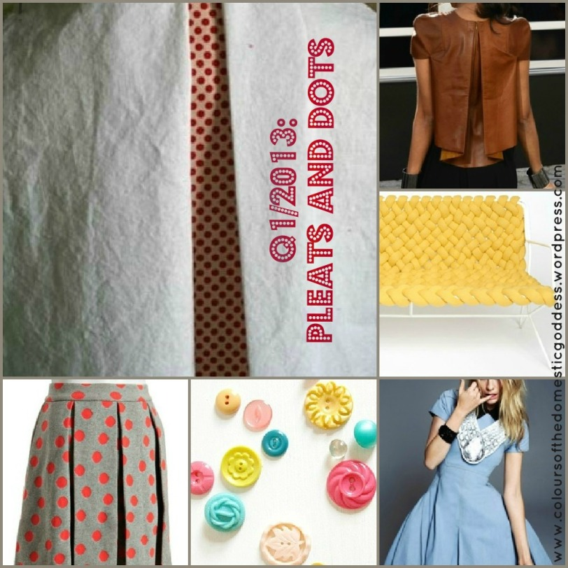 Pleats and dots collage
